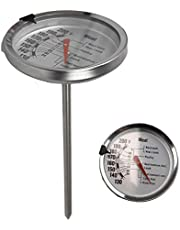 Home Basics Instant Read Large Stainless Steel Mechanical Meat Thermometer, Silver (1)