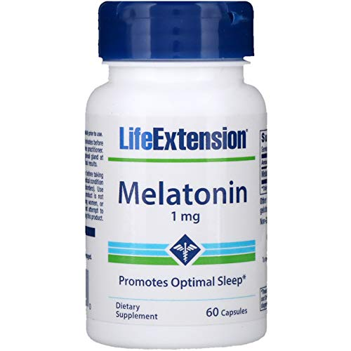 Amazon.com: Life Extension - Melatonin - 1 Mg - 60 Caps (Pack of 5 ...