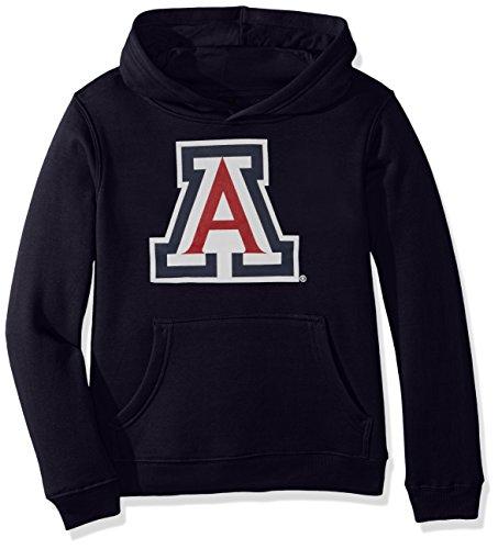 Outerstuff NCAA Arizona Wildcats Primary Logo RP FLC Hoodie, Medium (10-12), Dark Navy -