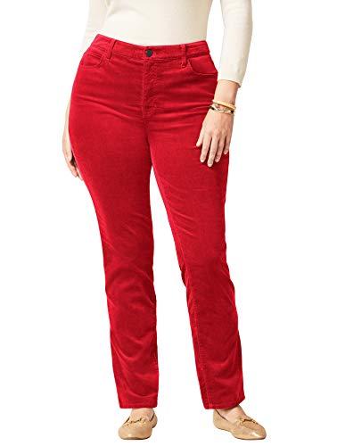 Talbots High-Rise Velveteen Straight-Leg Pants - Plus Size Petite 16 Classic ()