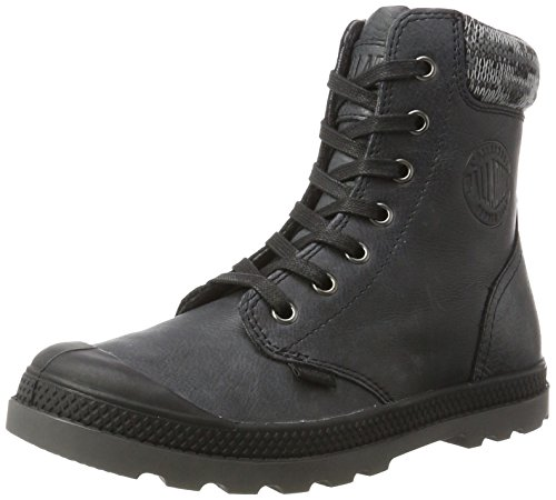 Lp Mujer black Knit forged F Negro Para Zapatillas Iron Altas Palladium Pampa g0w7EE