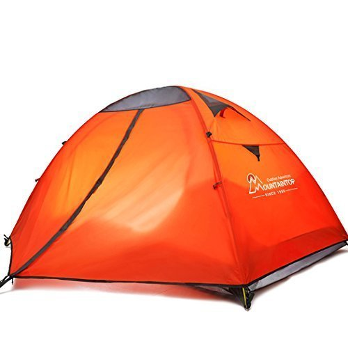 Mountaintop Waterproof 2 Person Tent/Backpacking Tents for Camping/3 Season Camping Tent with Carrying Bag Orange [並行輸入品] B07DVBMBCJ