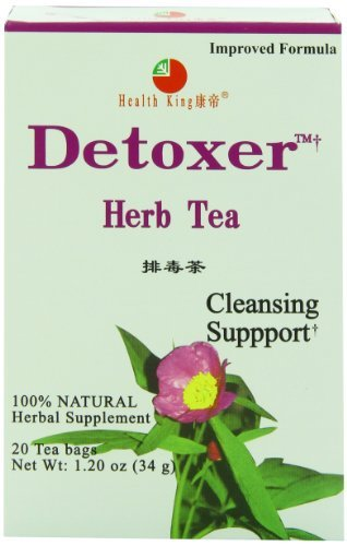 Health King Detoxer Herb Tea, Teabags, 20-Count Box by Health - Tea Health King Detoxer