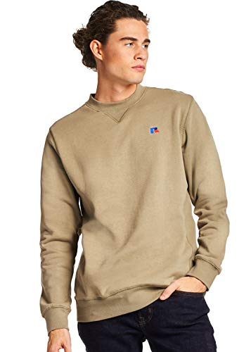 Russell Athletic Heritage Men's Frank Crew Sweatshirt, Dry Grass, L