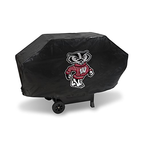 Wisconsin Badgers Soft Football - NCAA Wisconsin Badgers Vinyl Padded Deluxe Grill Cover