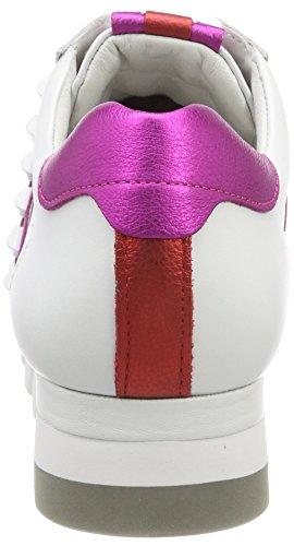 Canile E Schmenger Signore Leone Sneaker Bianco (bianco / Fuxia / Campari Suola Bianca)