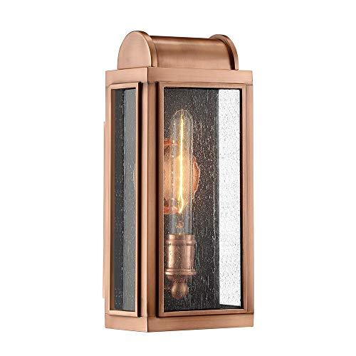 Aged Copper Outdoor Wall Light - Quoizel DL8406AC Danville Outdoor Wall Sconce, 1-Light, 100 Watts, Aged Copper (15