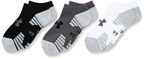 UnderArmour Heatgear Tech Noshow 3Pk - graphite / assorted / graphite