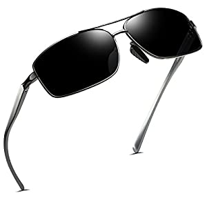 FEIDU Polarized Sport Mens Sunglasses HD Lens Metal Frame Driving Shades FD 9005