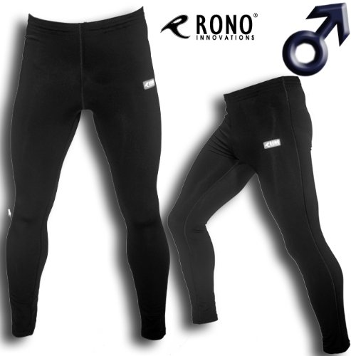 Rono Atmungsaktive Basic Winter Tight Herren Laufhose