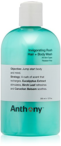 Anthony Invigorating Rush Hair + Body Wash, 12 fl. oz. (Invigorating Gel)