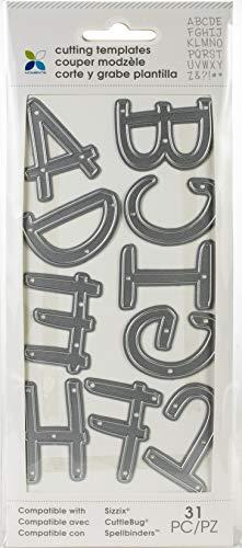 - Momenta Die XL Alpha Upper Case In Handwritten - 26 Piece Kit - Full Alphabet of Versatile Steel Die Cut Templates - Add Detail to Scrapbooks, Greeting Cards, Mailboxes, Etc.