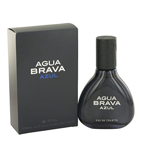 Agua Brava Azul by Antonio Puig Eau De Toilette Spray 3.4 oz for Men - 100% Authentic