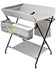 Family care/Folding with Large Storage Space Changing Unit with Wheels Diaper Change Station,Changing Tray Baby,Nursery Organizer for Infant (Color : B, Size : #2)