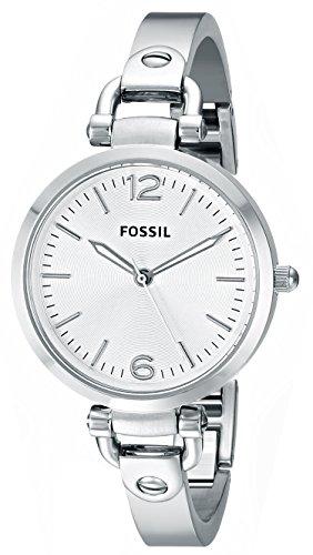 Fossil Women's Georgia Quartz Stainless Steel Dress Watch, Color: Silver (Model: ES3083) (Georgia Watch Fossil Strap)