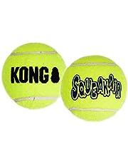 KONG - Squeakair® Balls - Dog Toy Premium Squeak Tennis Balls, Gentle on Teeth - For Medium Dogs (3 Pack)