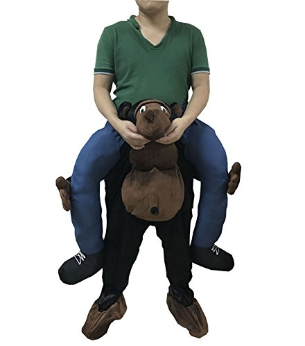 Unisex Ride On Riding Shoulder Adult Costume,Orangutan (Guy Riding Bear)