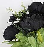 Duovlo Fake Flowers Vintage Artificial Peony Silk