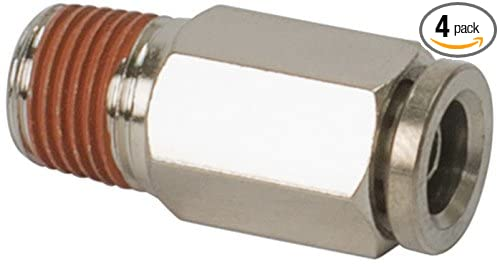 M VIAIR 11876 x 3//8 NPT to 1//8 Airline Straight Fitting DOT Approved 4 Pack