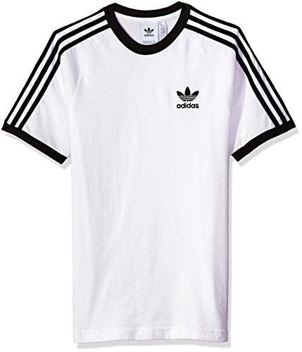 Adidas Men's Originals 3 Stripes Tee, White, XL