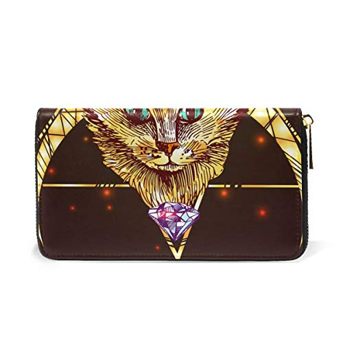 Purses Organizer Zip Womens Wallet Illustration Handbags Around And Cat Drawn Clutch Hand TIZORAX WY0Hfv