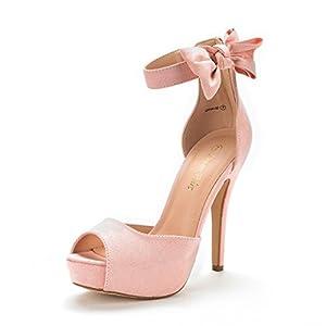 DREAM PAIRS Women's Swan-08 High Heel Platform Dress Pump Sandals