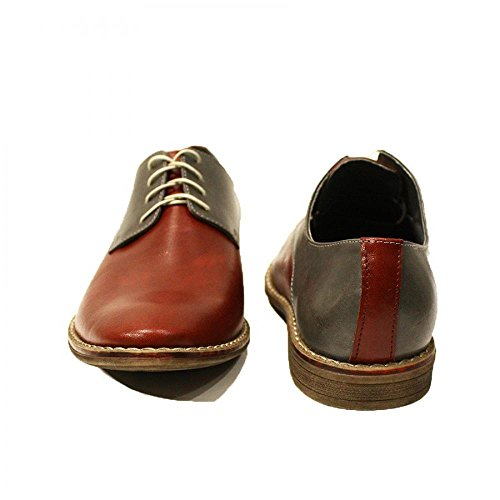 Modello Adriano - Handmade Colorful italiennes Chaussures en cuir Oxfords Casual Souliers de Formal Prime Unique Vintage Gift Lace Up Robe Hommes