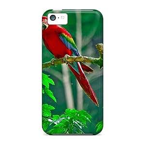 Iphone 5c CtXvB1024fUGXB Parrots Paradise Tpu Silicone Gel Case Cover. Fits Iphone 5c