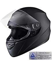Yescom M Full Face Helmet Visor Motorcycle Motorbike Racing Road AS/NZS 1698 Black