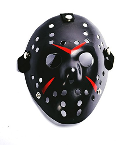 Kaluo Friday The 13th Jason Voorhees Mask Halloween Cosplay Costume Prop (Black)