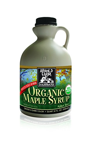 Maine Maple Syrup - Arnold Farm Sugarhouse Organic Maine Maple Syrup, 32 Ounce