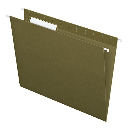 Pendaflex Recycled Hanging Folders, Letter Size, Standard Green, 1/3 Cut, 25/BX (81601)