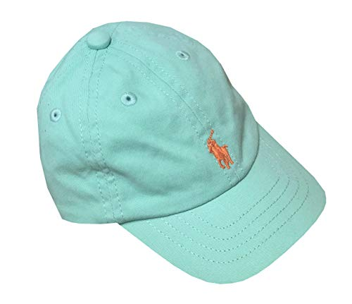 Ralph Lauren Infant Boys Pony Logo Hat Ball Cap (3M/9M, Aqua)
