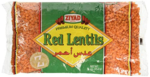 Ziyad Red Lentils 16 OZ, (Pack 1)