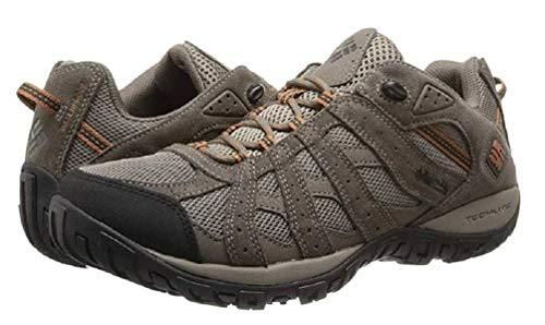 Columbia Men's Redmond Waterproof Hiking Shoe, Pebble, Dark Ginger, 9 D (Footwear Men Shoes)
