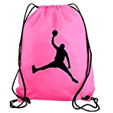 STICKERSLUG Pink Jordan Dunk Basketball Player Drawstring Gym Bag nylon workout bag