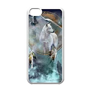 GGMMXO Wolf Howling Shell Phone Case For Iphone 5C [Pattern-1]