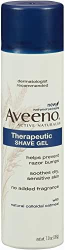 Aveeno Therapeutic Shave Gel To Reduce the Incidence of Razor Bumps, 7 Oz