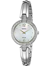 Womens SUP287 Solar Bangle Analog Display Japanese Quartz Silver Watch