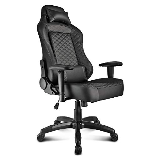 Otter Star Black Carbon Fiber Design Adjustable Office Chair Gaming Chair Ergonomic Swivel Chair High Back Racing Chair with Headrest and Lumbar Support Cushion Otter Star