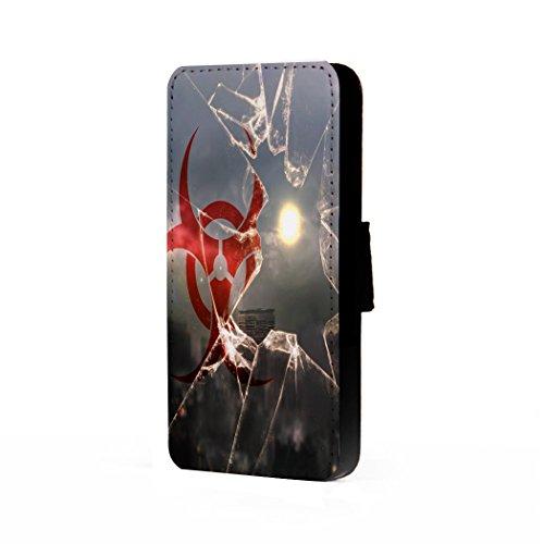 [BMC iPhone 7 Wallet Cover Case - Zombie Quarantine Glass] (Zombie Quarantine)