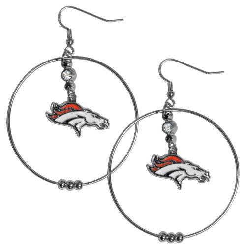 NFL Broncos 2-Inch Hoop Earrings