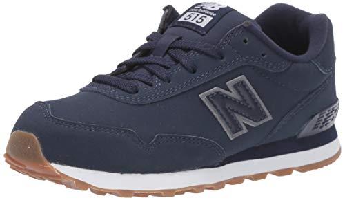 New Balance Boys' 515v1 Sneaker, Pigment/White, 1 M US Little Kid