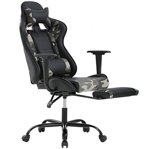 Ergonomic Office Chair PC Gaming Chair Desk Chair PU Leather Executive Rolling Swivel Chair Computer Lumbar Support for Women, Men