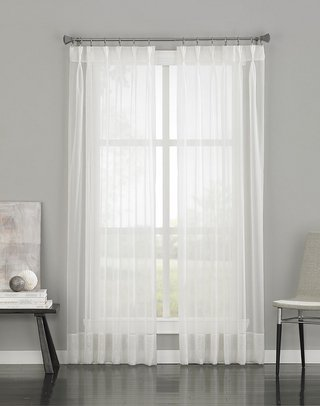 Curtainworks Soho Voile Sheer Pinch Pleat Curtain Panel, 29 by 95