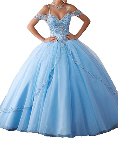 light blue ball gown - 5
