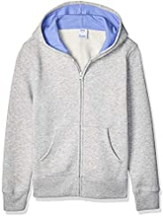 Amazon Essentials Big Girls' Fleece Zip-up Ho