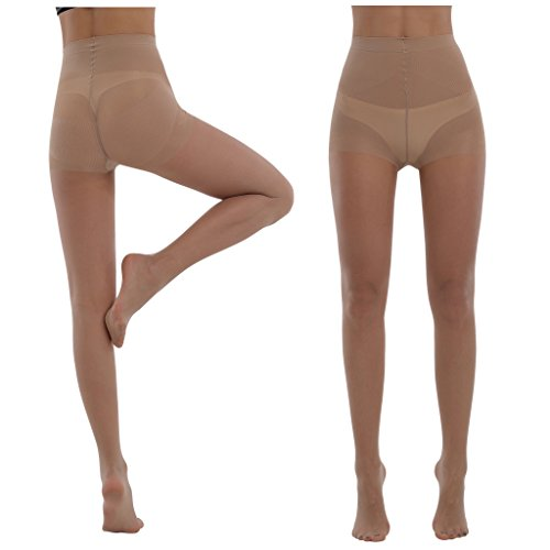 03b5386b7ef39 BONAS Women's Tights 20 Denier Stretch Run Resistant Control Top Tights(Pack  of 3 pairs) - Buy Online in Oman. | Clothing Products in Oman - See Prices,  ...