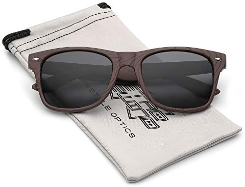 Rose Wood Print Frame Sunglasses