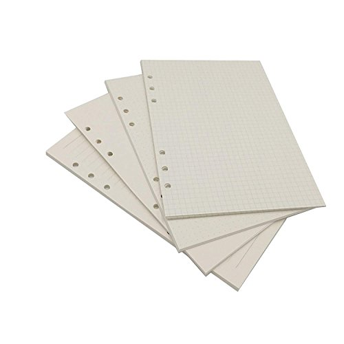 - A5 Looseleaf Binder Paper Refills Set from Chris.W, 80 Sheets, Dot Grid/Square Grid/Ruled/Blank Mixed (8.27x5.59 Inch)